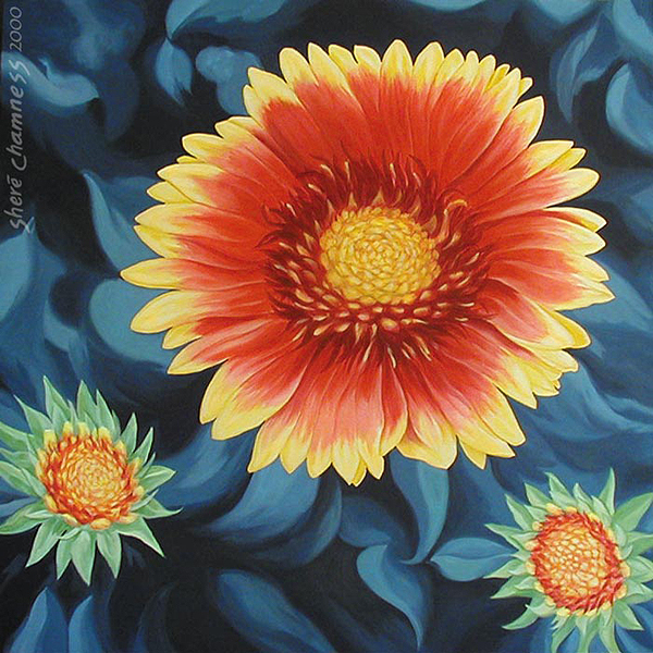 Gaillardia/or the Meaning of Life, A Painting by Shere Chamness
