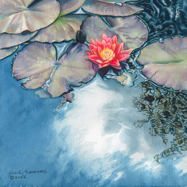 Watercolor Lily, A Painting by Shere Chamness