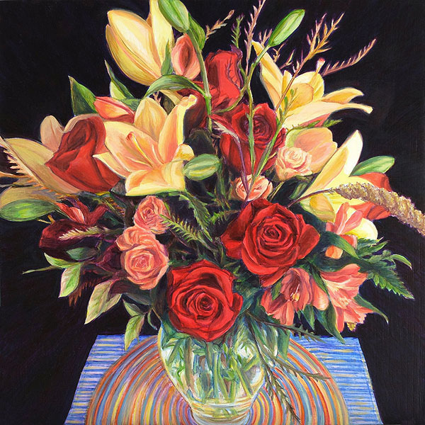 Birthday Bouquet, A Painting by Shere Chamness