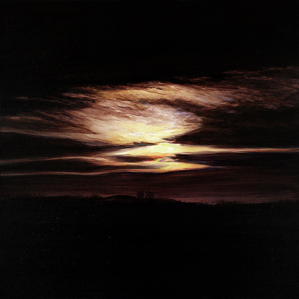Iridescent Moonrise, A Painting by Shere Chamness